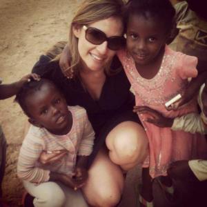 With the future women of Rwanda