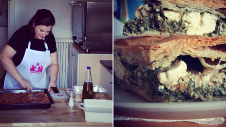 Foteini Mangana, a Cookisto cook, and her spinach pie